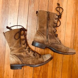 Ugg soft brown suede combat boot 8